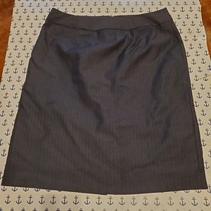 Calvin Klein charcoal pin striped pencil skirt